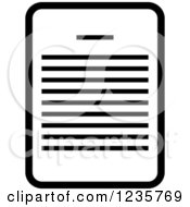 Clipart Of A Black And White Document Office Icon Royalty Free Vector Illustration