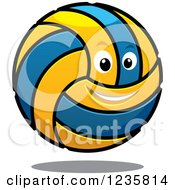 Clipart Of A Happy Volleyball Royalty Free Vector Illustration by Vector Tradition SM