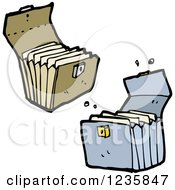 Clipart Of Portable File Holders Royalty Free Vector Illustration by lineartestpilot