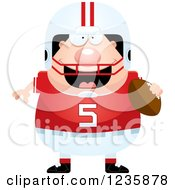 Clipart Of A Caucasian Male Football Player Holding A Ball Royalty Free Vector Illustration by Cory Thoman