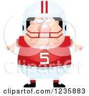 Clipart Of A Depressed Caucasian Male Football Player Royalty Free Vector Illustration by Cory Thoman