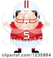 Clipart Of A Careless Shrugging Caucasian Male Football Player Royalty Free Vector Illustration by Cory Thoman
