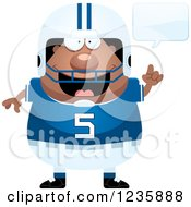 Clipart Of A Talking African American Male Football Player Royalty Free Vector Illustration by Cory Thoman