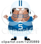 Clipart Of A Mad African American Male Football Player Royalty Free Vector Illustration by Cory Thoman
