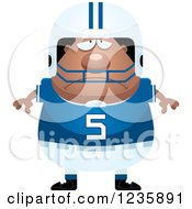Clipart Of A Depressed African American Male Football Player Royalty Free Vector Illustration by Cory Thoman