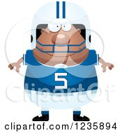 Clipart Of A Happy African American Male Football Player Royalty Free Vector Illustration by Cory Thoman