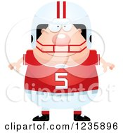 Clipart Of A Happy Caucasian Male Football Player Royalty Free Vector Illustration