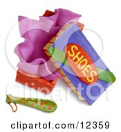 Poster, Art Print Of 3d Clay Sculpture Shoe Box