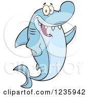 Shark Character Waving