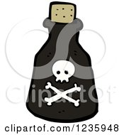 Clipart Of A Poison Bottle Royalty Free Vector Illustration