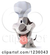 3d Chef Jack Russell Terrier Dog Panting