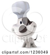 Clipart Of A 3d Chef Jack Russell Terrier Dog Smiling Royalty Free Illustration