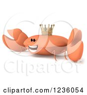 Clipart Of A 3d Smiling King Crab Royalty Free Illustration by Julos