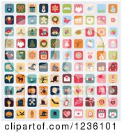 Clipart Of Holiday Icons Royalty Free Vector Illustration by Eugene