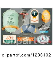 Clipart Of Retail Labels Royalty Free Vector Illustration