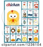 Clipart Of Word And Item Cards Royalty Free Vector Illustration