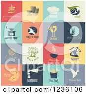 Clipart Of Food Icons Royalty Free Vector Illustration by Eugene
