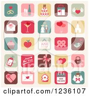 Clipart Of Marriage Icons Royalty Free Vector Illustration