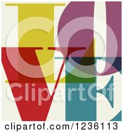 Clipart Of Colorful Letters Spelling LOVE On Beige Royalty Free Vector Illustration by Eugene