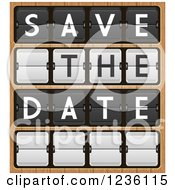 Save The Date Flipper Score Board