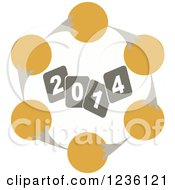 Clipart Of An Evolution Chart Around Year 2014 Royalty Free Vector Illustration by Andrei Marincas