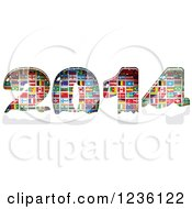 Clipart Of Year 2014 Made Of National Flags Royalty Free Vector Illustration by Andrei Marincas