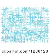 Clipart Of An Abstract Blue Star Or Sparkle Background Royalty Free Vector Illustration