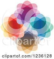 Clipart Of A Circle Of Colorful Designs Royalty Free Vector Illustration by Andrei Marincas