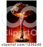 Clipart Of A Nuclear Bomb Mushroom Cloud Royalty Free CGI Illustration