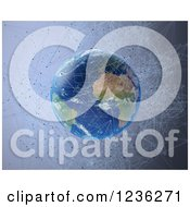 Clipart Of A 3d Network Around Earth Royalty Free CGI Illustration