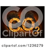 Clipart Of 3d CO2 Carbon Dioxide Emissions Royalty Free CGI Illustration by Mopic