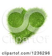 3d Grassy Heart Patch