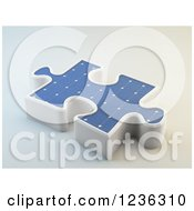 Clipart Of A 3d Solar Photovoltaics Panel Jigsaw Puzzle Piece Royalty Free CGI Illustration by Mopic