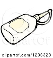 Clipart Of A Glue Bottle Royalty Free Vector Illustration