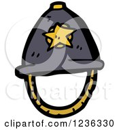 Clipart Of A Constable Hat Royalty Free Vector Illustration by lineartestpilot