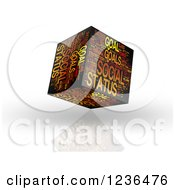 Clipart Of A 3d Social Status Goal Cube Royalty Free Illustration by MacX