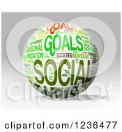 Clipart Of A 3d Status Social Goals Sphere Royalty Free Illustration