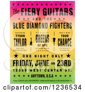 Colorful Gradient Concert Poster With Sample Text Contact Us For Text Free Version