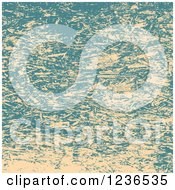 Distressed Blue And Beige Sauder Background