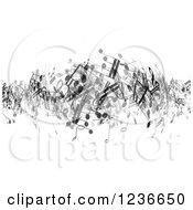 Transparent Music Notes Junbled