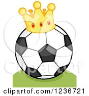 Cartoon Soccer Ball With A Crown