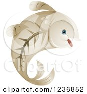 Clipart Of A Cute Happy X Ray Fish Royalty Free Vector Illustration