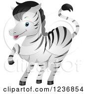 Cute Zebra Prancing
