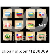 Clipart Of National Flag Icons On Black 2 Royalty Free Vector Illustration by Vector Tradition SM