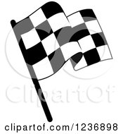 Clipart Of A Black And White Checkered Racing Flag Icon Royalty Free Vector Illustration