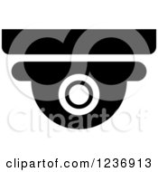 Clipart Of A Black And White Surveillance Camera Icon Royalty Free Vector Illustration