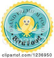 Clipart Of A Bird Food Label Royalty Free Vector Illustration