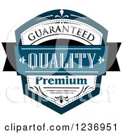 Clipart Of A Blue Quality Label 11 Royalty Free Vector Illustration