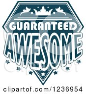 Clipart Of A Blue Quality Label 10 Royalty Free Vector Illustration