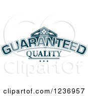 Clipart Of A Blue Quality Label 4 Royalty Free Vector Illustration